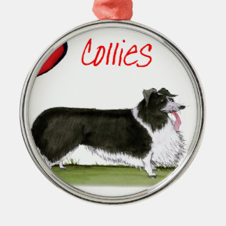 we luv collies from tony fernandes metal ornament
