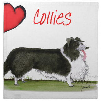 we luv collies from tony fernandes napkin