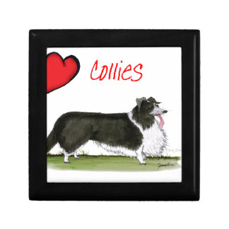 we luv collies from tony fernandes small square gift box