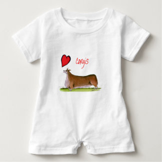 we luv corgis from Tony Fernandes Baby Bodysuit