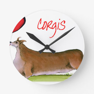 we luv corgis from Tony Fernandes Round Clock