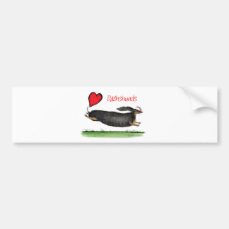 we luv dachshunds from Tony Fernandes Bumper Sticker