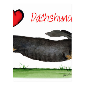 we luv dachshunds from Tony Fernandes Postcard