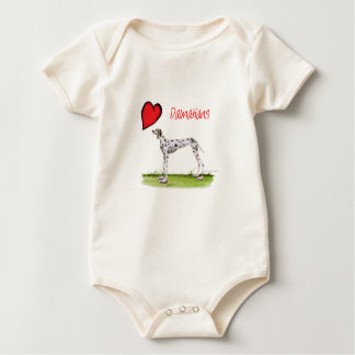 we luv dalmatians from Tony Fernandes Baby Bodysuit