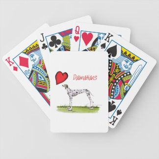 we luv dalmatians from Tony Fernandes Bicycle Playing Cards