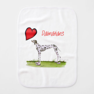 we luv dalmatians from Tony Fernandes Burp Cloth
