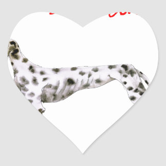 we luv dalmatians from Tony Fernandes Heart Sticker