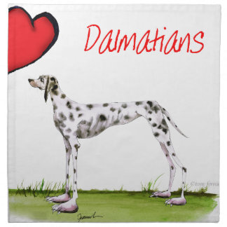 we luv dalmatians from Tony Fernandes Napkin