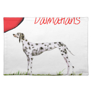 we luv dalmatians from Tony Fernandes Placemat