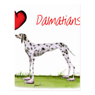 we luv dalmatians from Tony Fernandes Postcard