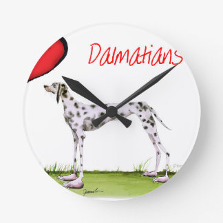 we luv dalmatians from Tony Fernandes Round Clock