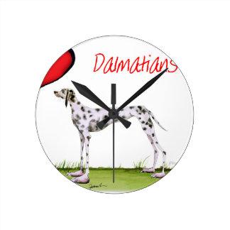 we luv dalmatians from Tony Fernandes Wall Clock
