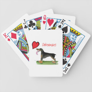 we luv dobermans from Tony Fernandes Bicycle Playing Cards