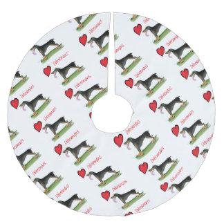 we luv dobermans from Tony Fernandes Brushed Polyester Tree Skirt