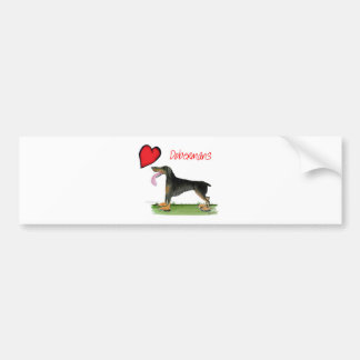 we luv dobermans from Tony Fernandes Bumper Sticker