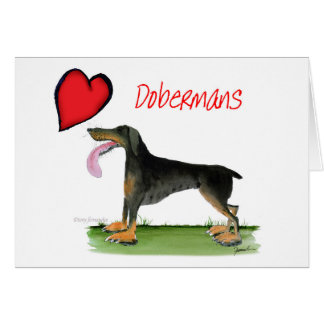 we luv dobermans from Tony Fernandes Card