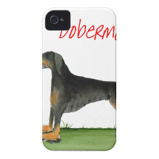 we luv dobermans from Tony Fernandes iPhone 4 Case-Mate Case