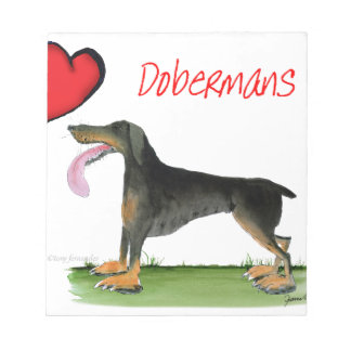 we luv dobermans from Tony Fernandes Notepad