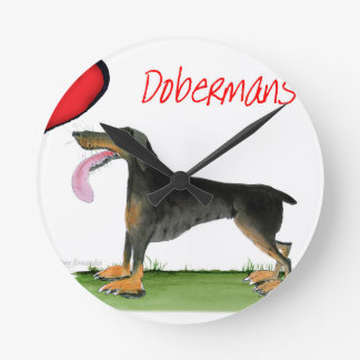 we luv dobermans from Tony Fernandes Round Clock