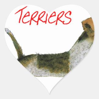 we luv fox terriers from Tony Fernandes Heart Sticker