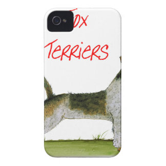 we luv fox terriers from Tony Fernandes iPhone 4 Case