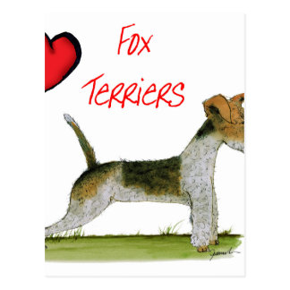 we luv fox terriers from Tony Fernandes Postcard