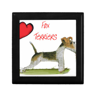 we luv fox terriers from Tony Fernandes Small Square Gift Box