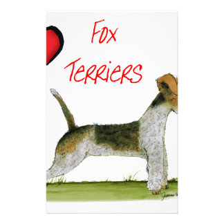 we luv fox terriers from Tony Fernandes Stationery