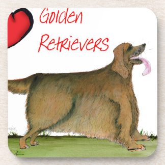 we luv golden retrievers from Tony Fernandes Coaster