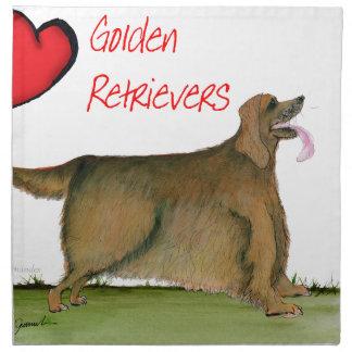 we luv golden retrievers from Tony Fernandes Napkin