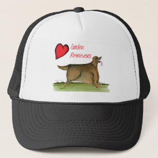 we luv golden retrievers from Tony Fernandes Trucker Hat