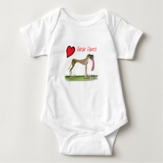 we luv great danes from Tony Fernandes Baby Bodysuit