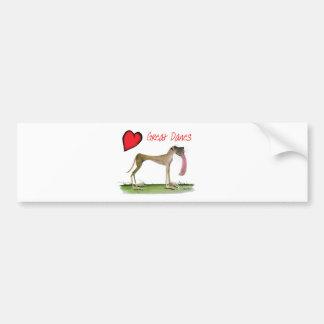 we luv great danes from Tony Fernandes Bumper Sticker