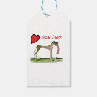 we luv great danes from Tony Fernandes Gift Tags