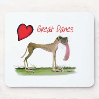 we luv great danes from Tony Fernandes Mouse Pad
