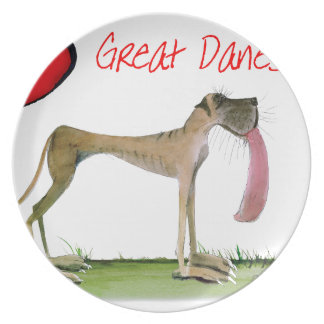 we luv great danes from Tony Fernandes Plate