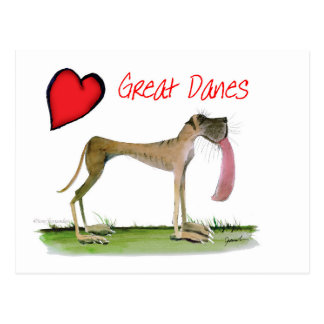 we luv great danes from Tony Fernandes Postcard