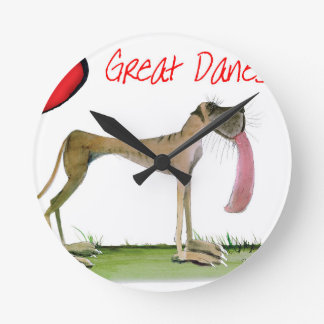 we luv great danes from Tony Fernandes Round Clock