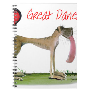 we luv great danes from Tony Fernandes Spiral Notebook