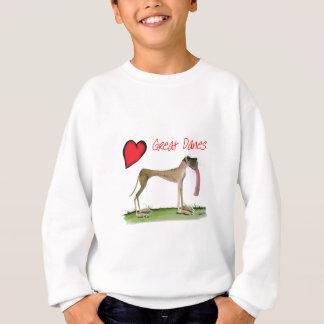 we luv great danes from Tony Fernandes Sweatshirt