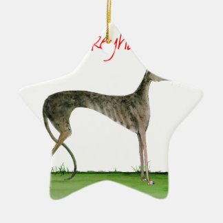 we luv greyhounds from Tony Fernandes Ceramic Star Decoration