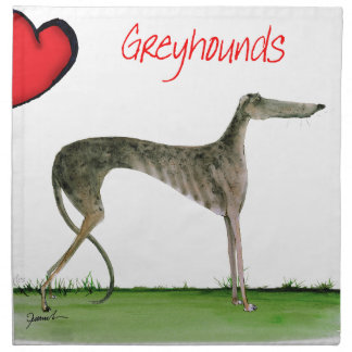 we luv greyhounds from Tony Fernandes Napkin
