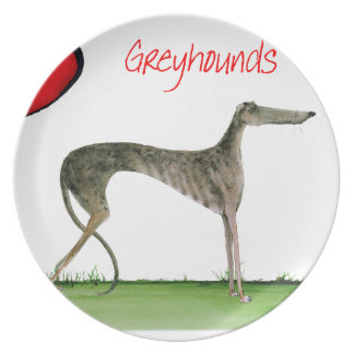 we luv greyhounds from Tony Fernandes Plate