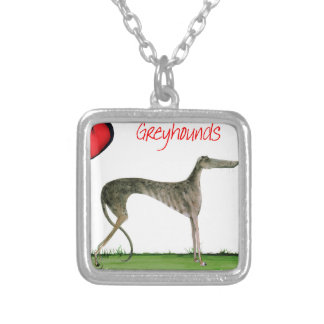 we luv greyhounds from Tony Fernandes Silver Plated Necklace