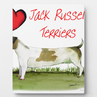 we luv jack russell terriers from Tony Fernandes Display Plaques