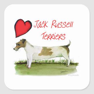 we luv jack russell terriers from Tony Fernandes Square Sticker