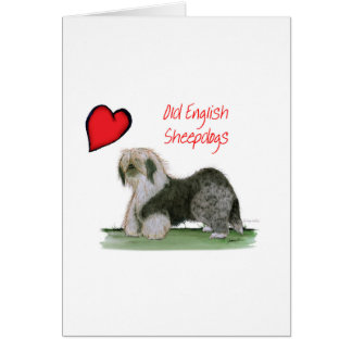 we luv old english sheepdogs, Tony Fernandes Card
