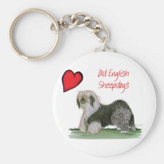 we luv old english sheepdogs, Tony Fernandes Key Ring