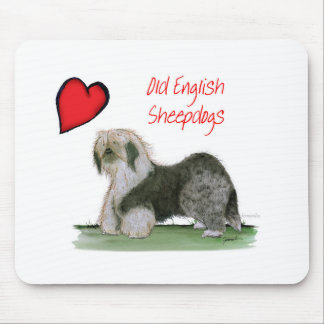 we luv old english sheepdogs, Tony Fernandes Mouse Pad