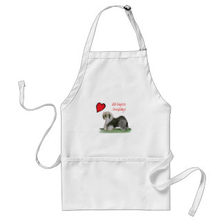 we luv old english sheepdogs, Tony Fernandes Standard Apron